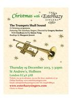 Christmas with The Esterhazy Singers - Sound the...