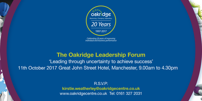 The Oakridge Leadership Forum - Members Discount