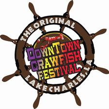 Original DownTown Lake Charles Crawfish Festival logo