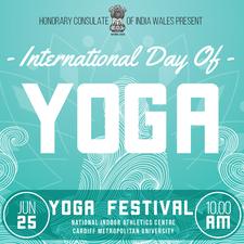 International Yoga Day Cardiff logo