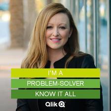 Audrey Tregaskes, Account Executive for Qlik logo