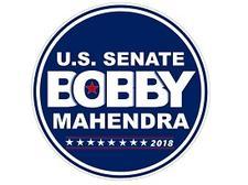Bobby Mahendra for U.S. Senator for Nevada logo