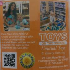 Toys On The Square, Unusual Toys & Pottery Painting logo