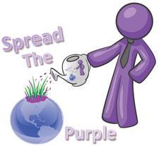 Spread The Purple logo