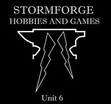 Stormforge Hobbies and Games logo