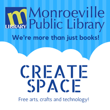 Monroeville Public Library- Create Space logo