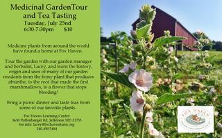 Medicinal Garden Tour and Tea Tasting