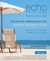 Echo Aventura Announces Bal Harbour Beach Club