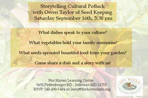 Storytelling and Cultural Potluck with Owen Taylor of...