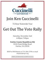 Ken Cuccinelli Rally with Governor Bob Ehrlich -...