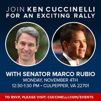 Ken Cuccinelli GOTV Rally With Senator Marco Rubio -...
