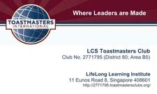 LCS Toastmasters Club logo