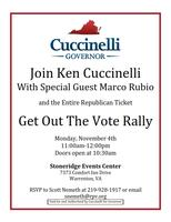 Ken Cuccinelli Get Out The Vote Rally With Senator...
