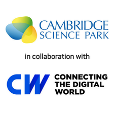 Cambridge Science Park in collaboration with CW (Cambridge Wireless) logo