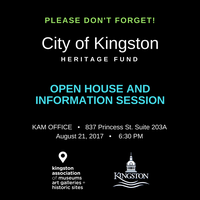 Information Open House - City of Kingston Heritage Fund