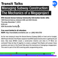 Transit Talk: Managing Subway Construction - The...