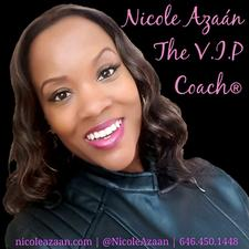 Ms. Nicole Azaán, The V.I.P Coach® logo