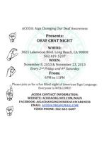 Copy of ACODA's Deaf Chat Night @ Starbucks