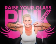 Raise Your Glass Pink Tribute logo