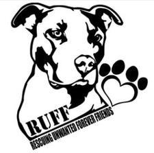 RUFF Rescuing Unwanted Furever Friends logo