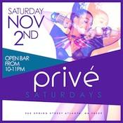 PRIVÉ Saturdays :: Saturday 11.02.13
