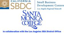 Santa Monica College Small Business Development Center in collaboration with Los Angeles SBA District Office logo