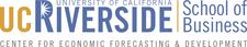 UC Riverside School of Business Center for Economic Forecasting & Development logo