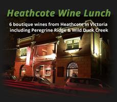 Shiraz Heaven Heathcote Wine Lunch