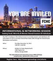 FDIC HOSTS REAL ESTATE INFORMATION SESSIONS FOR INVESTO...
