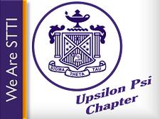 Upsilon Psi Chapter, STTI logo