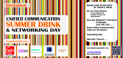 Summer drink 2012 / Unified Communication & Networking Day