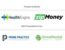 HealthEngine & zipMoney, supported by Prime Practice & Great Dental Websites logo