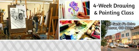 PRIVATE 4-WEEK 1 HR DRAWING & PAINTING CLASS (all...