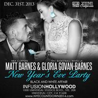 "LA CLIPPERS' Matt Barnes' & Gloria Govan's NYE 2014 ""Black &..."