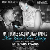 LA CLIPPERS' Matt Barnes' & Gloria Govan's NYE 2014...