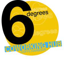 6 DEGREES COWORKING HUB logo