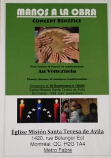 Militza Nunez, percussionist and coordinator of this event  logo