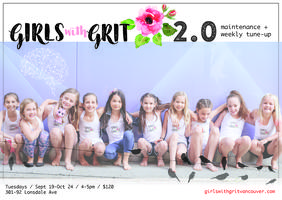Girls with Grit 2.0 Tuesdays Sept 19-Oct 24