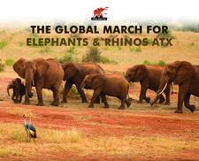 The Global March for Elephants & Rhinos ATX  logo