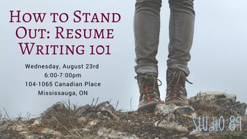 How To Stand Out: Resume Writing 101 Tickets, Wed, Aug 23, 2017 At 6:00 PM    Eventbrite