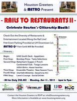 Rails to Restaurants - Celebrate Houston's Citizenship...