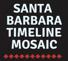 London School of Mosaic & Santa Barbara Timeline Mosaic  logo