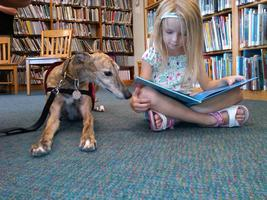 Read to a Therapy Dog at the Library on 12/17/13