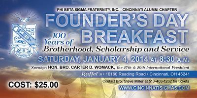 Phi Beta Sigma Fraternity, Inc. Centennial Founders'...