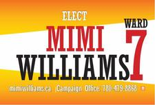 Elect Mimi Williams Edmonton City Councillor Ward 7 logo