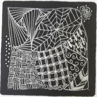 Black & White & Glitter Zentangle Workshop