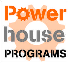 Powerhouse Programs - Because Growing Up is Optional logo