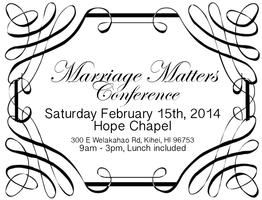 Marriage Matters Conference