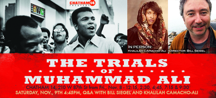 Fri Nov 8, The Trials of Muhammad Ali @ Chatham 14...