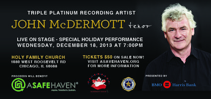 A Special Holiday Performance featuring John McDermott, Tenor